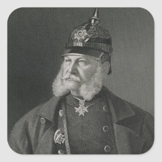 Portrait of William I  King of Prussia Square Sticker
