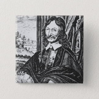 Portrait of William Lilly (1602-81), from his 'Chr 15 Cm Square Badge