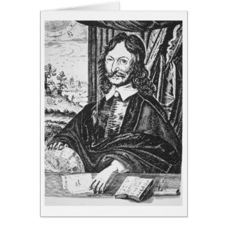 Portrait of William Lilly (1602-81), from his 'Chr Card
