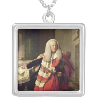 Portrait of William Murray Silver Plated Necklace