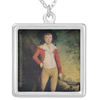 Portrait of William Seward Silver Plated Necklace