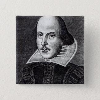 Portrait of William Shakespeare 15 Cm Square Badge