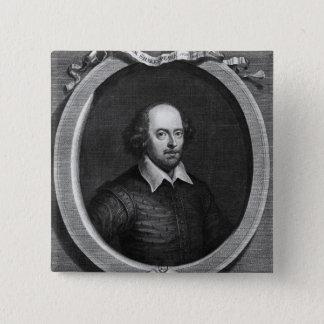 Portrait of William Shakespeare  1719 15 Cm Square Badge