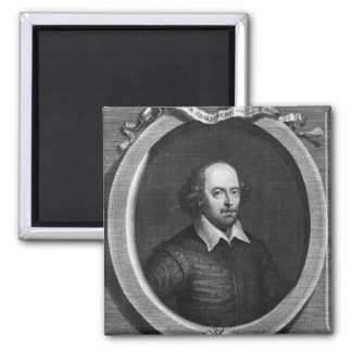 Portrait of William Shakespeare  1719 Magnet