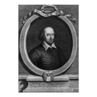 Portrait of William Shakespeare  1719 Poster