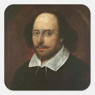 Portrait of William Shakespeare  c.1610 Square Sticker