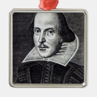 Portrait of William Shakespeare Christmas Ornament