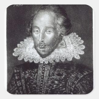 Portrait of William Shakespeare Square Sticker