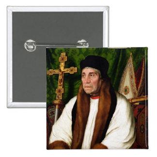 Portrait of William Warham 15 Cm Square Badge