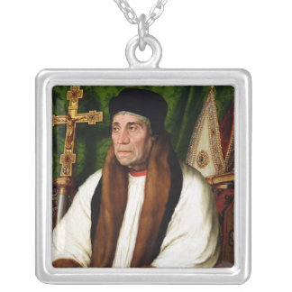 Portrait of William Warham Silver Plated Necklace
