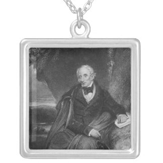 Portrait of William Wordsworth Silver Plated Necklace