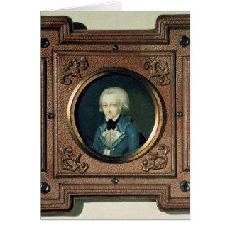 Portrait of Wolfgang Amadeus Mozart , 1773 Card