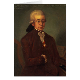 Portrait of Wolfgang Amadeus Mozart 2 Card