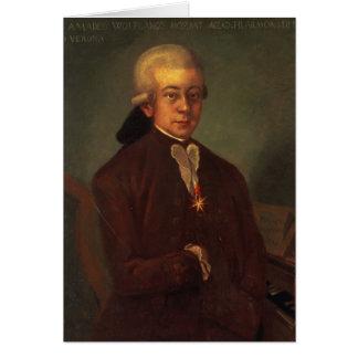 Portrait of Wolfgang Amadeus Mozart 2 Greeting Card