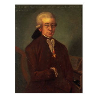 Portrait of Wolfgang Amadeus Mozart 2 Post Card