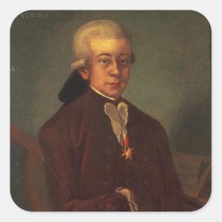 Portrait of Wolfgang Amadeus Mozart 2 Sticker
