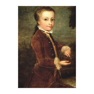 Portrait of Wolfgang Amadeus Mozart  aged Canvas Print