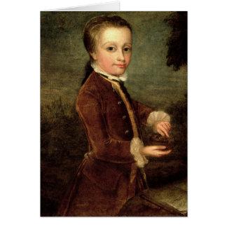 Portrait of Wolfgang Amadeus Mozart  aged Card