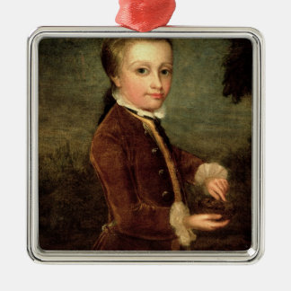 Portrait of Wolfgang Amadeus Mozart  aged Christmas Ornament