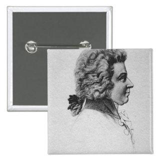 Portrait of Wolfgang Amadeus Mozart 15 Cm Square Badge