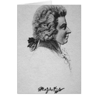 Portrait of Wolfgang Amadeus Mozart Card
