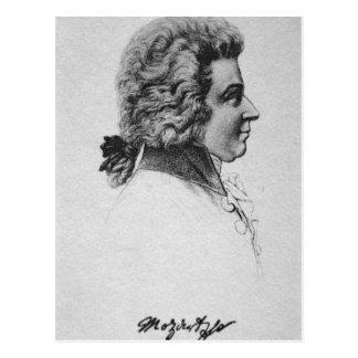 Portrait of Wolfgang Amadeus Mozart Postcard