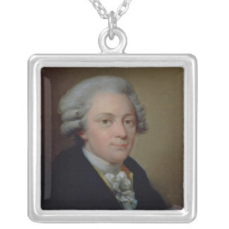 Portrait of Wolfgang Amadeus Mozart Silver Plated Necklace