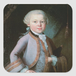 Portrait of Wolfgang Amadeus Mozart Square Sticker