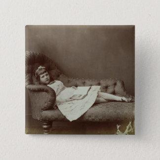 Portrait of Xie Kitchin (albumen print) 15 Cm Square Badge