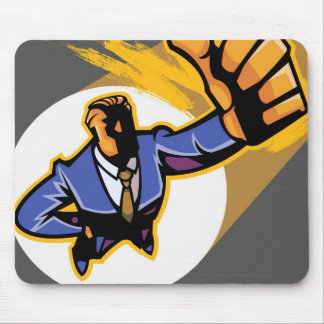 Portrait of young man showing thumbs up mouse mat