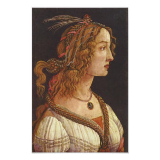 Portrait of young Simonetta Vespucci Poster
