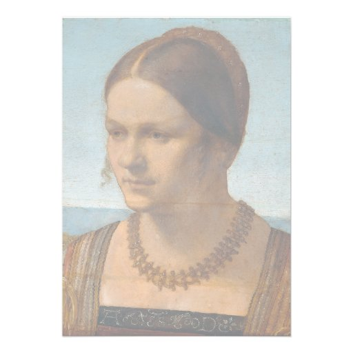 Portrait of Young Venetian Lady by Durer Invitations