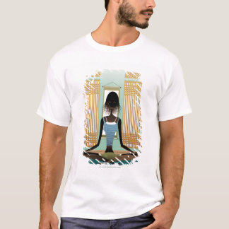 Portrait of young woman doing yoga T-Shirt