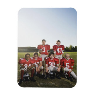 Portrait of youth football team on field rectangular photo magnet