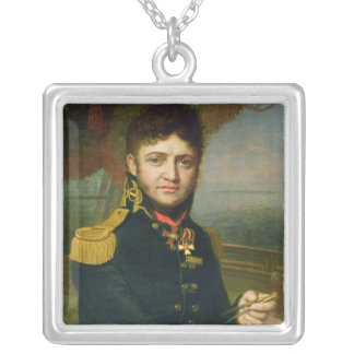 Portrait of Yuri F. Lisyansky, 1810 Silver Plated Necklace
