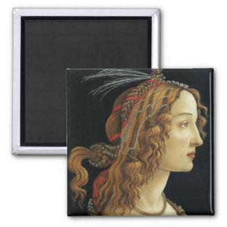 Portrait or a Lady Square Magnet