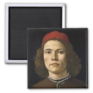 Portrait or a Young man Square Magnet