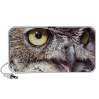 Portrait owl iPhone speakers