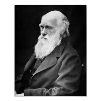 Portrait Photo of Charles Darwin Poster
