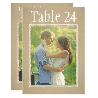 Portrait Photo Table Number Cards | Kraft Paper 13 Cm X 18 Cm Invitation Card