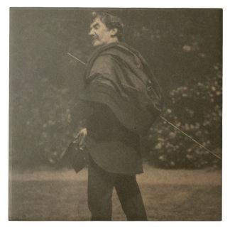 Portrait photograph of James Abbott McNeill Whistl Large Square Tile