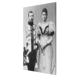Portrait photograph of Tsar Nicholas II (1868-1918 Canvas Print