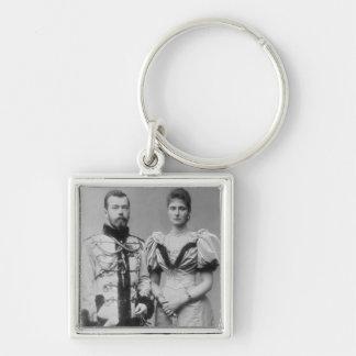 Portrait photograph of Tsar Nicholas II (1868-1918 Key Ring