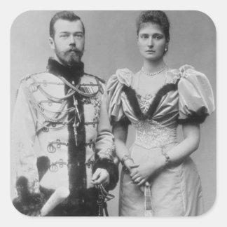 Portrait photograph of Tsar Nicholas II (1868-1918 Square Sticker