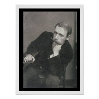Portrait photograph of Walter Crane (1845-1915) by Poster