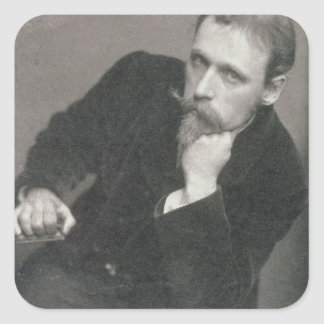 Portrait photograph of Walter Crane (1845-1915) by Square Sticker