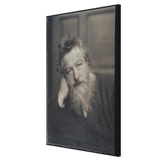 Portrait photograph of William Morris (1834-96) by Canvas Print