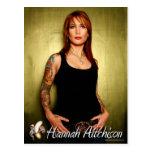 Portrait Postcard - Hannah Aitchison on Green