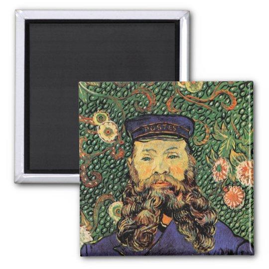 Portrait Postman Joseph Roulin Van Gogh Fine Art Square Magnet