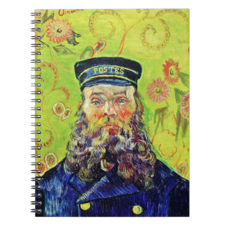 Portrait Postman Joseph Roulin Vincent van Gogh Spiral Notebook